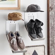 shoe hat metal wall organization