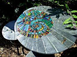 cool outdoor furniture garden art table