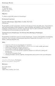 How To Write A Resume For Housekeeping Job Megakravmaga Com