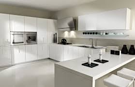 Small Picture Simple Modern White Kitchen Ikea Units Ideas With Black Brick