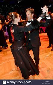 Patrick Dempsey and Anna, dancer of Leipzig ballet, dancing during the  Leipzig Opera Ball (Leipziger Opernball) 'Ahoi Cesko' on October 13, 2018  in Leipzig, Germany Stock Photo - Alamy