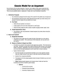 Example Of Argument Essays 9 Argumentative Essay Outline Templates Pdf Free Premium