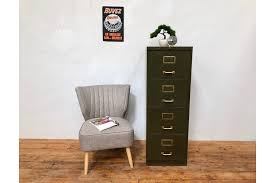mid century vine 4 drawer steel filing cabinet by roneo photo 1