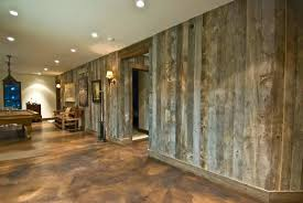 paneling faux weathered wood barn wall