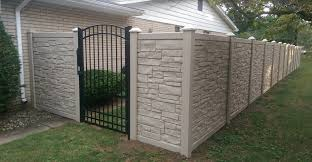 aluminum privacy fence. This Simtek Privacy Fence Is Paired Perfectly With An Arched Top Ornamental Aluminum Gate And Adds Significant Value To Livonia Home.