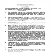 Equipment Purchase And Sale Agreement Template Equipment Purchase ...