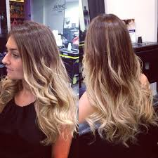 Ombre color hair or balyage hair colour with Ghd soft curl hair style  fashion