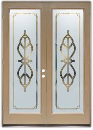 glass front doors etched beveled