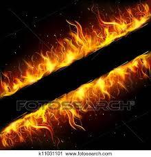 fire frame clipart k11031101 fotosearch
