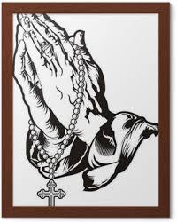 Modlit Se Za Ruce S Růženec Tetování