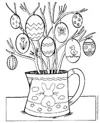 decorated easter egg tree coloring pages free printable easter coloring pages sheets and pictures