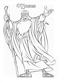 Small Picture Picture of Prophet Moses Coloring Page Color Luna