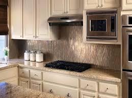 image of kitchen backsplash ideas metal tiles