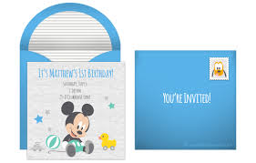 plan a precious mickey mouse 1st birthday party mickey mouse first birthday online invitation