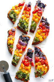rainbow party flatbread recipe by gimmee some oven