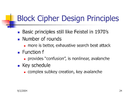 Block Cipher Design Principles Ppt Block Ciphers Network Systems Security Powerpoint
