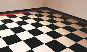 how to create an epoxy checkerboard