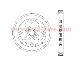 round flower pattern cad blocks and drawings dwg file