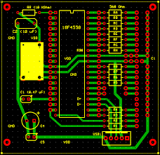 homepage bitmap of the initial printed circuit board pcb