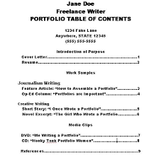 How To Make A Portfolio Table Of Contents Pinterest Content And