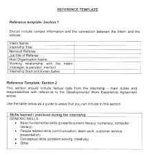 Resume Reference Template Reference Page Template Resume Reference Page Format Resume