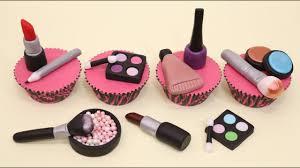 makeup cupcakes cake toppers cupcakes de maquillaje