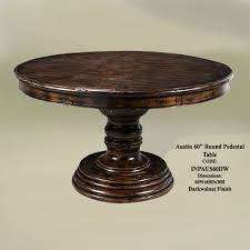 table outstanding 60 inch round dining tables design ideas dark walnut finish 60 inch austin padestal