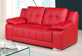red leather sofa land