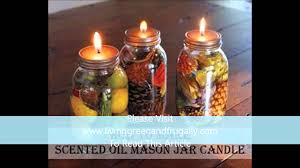 Decorative Oil Jars How To Make Scented Oil Mason Jar Candle YouTube 47