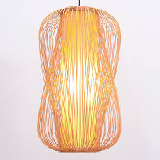 Asian Ceiling Lights Us 155 65 South Asian Bamboo Long Lantern Dining Room Pendant Lamp Japanese Restaurant Pendant Lights Country Rustic Hanging Lamps In Pendant Lights
