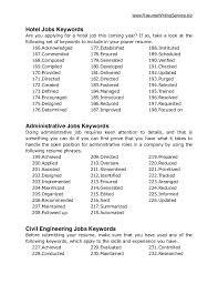 Keywords For Resume Suiteblounge Com
