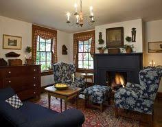 Traditional Colonial Fabric. Primitive Living RoomCountry ...
