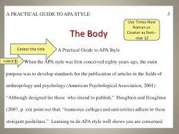 Apa Standards Under Fontanacountryinn Com