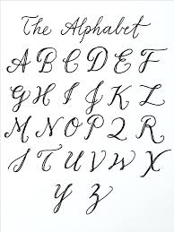 Capital Cursive Letters Cursive Alphabet Cursive Writing Capital ...