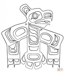 Small Picture Haida Art Raven coloring page Free Printable Coloring Pages