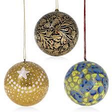 Amazon.com: Christmas Tree Hanging Ornaments Handmade Paper Mache Balls 3  Inch Set of 18: Home & Kitchen