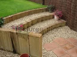 Small Picture Curved garden steps from patio to lawn Yard and Garden