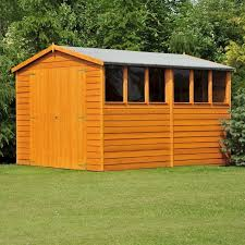 shire overlap garden shed 12x6 with