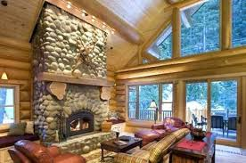 river rock fireplace pictures fireplaces designs