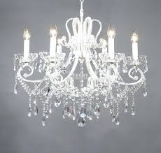 1 cut crystal antique white frame shabby chic chandelier 6 lights mini