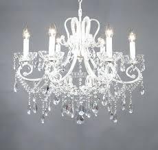 1 cut crystal antique white frame shabby chic chandelier 6 lights mini white shabby chic chandeliers mini