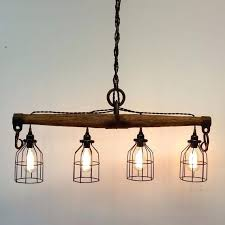 industrial lighting fixtures for home. Industrial Lighting Fixtures Rustic Yoke Chandelier By On Style Home . For