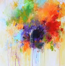 colorful abstract flower painting abstract art abstract painting room deco small abstract