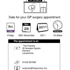 Easy Read Gp Surgery Appointment Letter Tool | Nhs Lanarkshire
