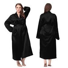plus size silk robe classic design black plus size long silk robe lilysilk plus