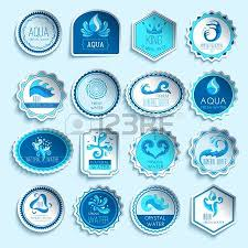 pool splash vector. Fresh Mineral Water Paper Sticker Labels Set Isolated Vector Illustration Pool Splash