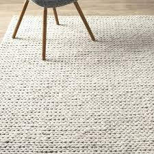 white area rugs amazing of wool area rugs with mercury row chunky wool cable off white white area rugs