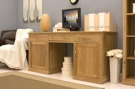 baumhaus mobel solid oak hidden home office. Conran Solid Oak Hidden Home Office Twin Pedestal Desk. Model: COR06D Baumhaus Mobel