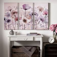 graham brown purple classic poppy trio canvas wallart on debenhams wall art canvases with canvases home debenhams