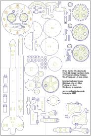 free plans and dxf file to make and build wooden clocks